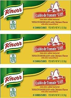 Knorr Tomato Chicken Flavor Bouillon Cubes 8 Count Box - 3 Pack (Tomato Chicken)