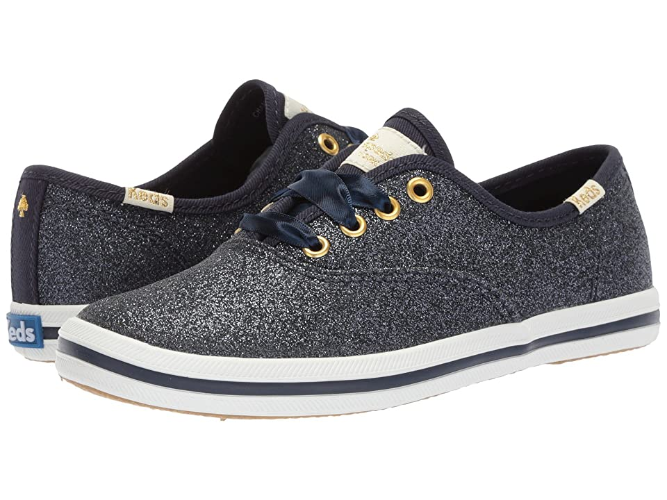 Keds x kate spade new york Kids Champion Glitter (Little Kid/Big Kid) (Navy) Girl