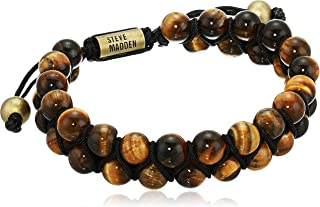 Men's Brown Marbled Bead Double Strand Adjustable...