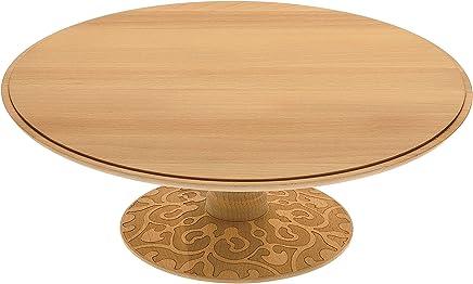 Preisvergleich für Alessi Dressed in Wood Etagere aus Buchenholz mit Reliefdekor, Holz, braun 2.5 x 32.5 x 39.5 cm