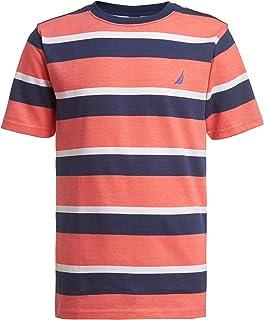 Nautica boys Short Sleeve Wide Striped Crew Neck T-shirt T-Shirt