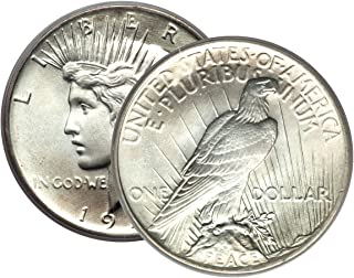1 - Peace Silver Dollar Mid-1920's Dated Dollar Extra Fine or Better