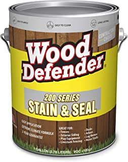 Wood Defender - 200 Series - Stain & Seal - Semi-Transparent - Coffee Brown - 1 Gallon