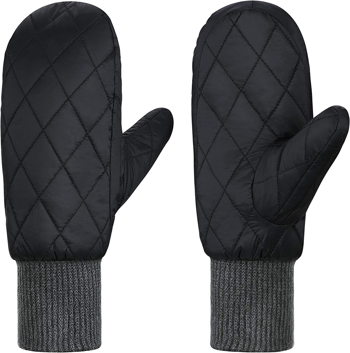 Andake 90% Duck Down Mittens Gloves For Women Man -20¨H Cold Weather Warm Winter Snow Gloves For Walking Jogging Work Outdoor