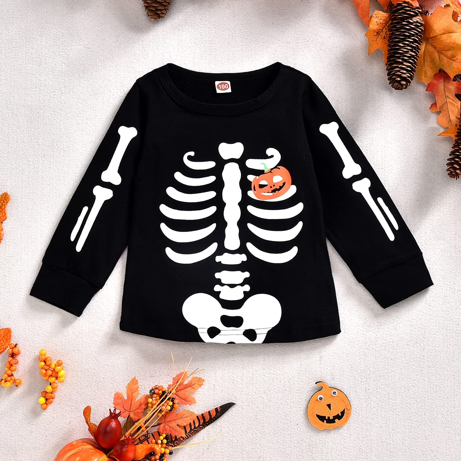 Infant Baby Boys Girls Halloween Romper Jumpsuit Onesies Toddler Shirt Pants Clothes Set Brother Sister Matching Outfits