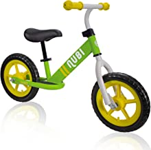 """Nubi Sprint 12"""" Kids Balance Bike – Ages 18 Months to 5 Years Pedal-Less Toddler Bike for Boys and Girls"""