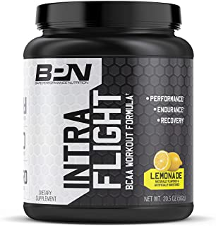Bare Performance Nutrition, Intra-Flight, Branch Chain Amino Acids, Ultimate Endurance Supplement, Increase Endurance and Stamina, 2:1:1 BCAA + Recovery (Lemon-Aid, 30 Servings)