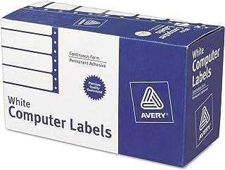 Avery 4022 Dot Matrix Mailing Labels, 1 Across, 1 15/16 x 4, White (Box of 5000)