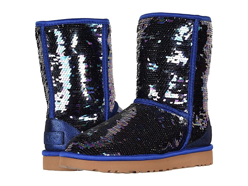 08a2287bd4e5 UGG Classic Short Sequin (Navy) Women s Pull-on Boots
