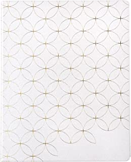"""$38 » 8"""" x 10"""" 12 Month Softbound Hourly Life Planner ( Jan 2022 - Dec 2022 ) - Mid Century Circles Outline Gold. Dated Calendar..."""