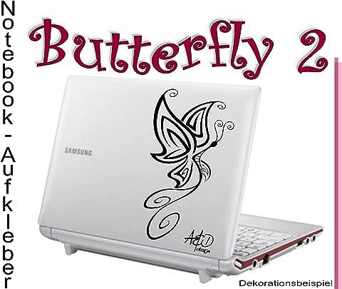 Notebook Laptop Skin Aufkleber  quot Butterfly 2 quot  Ma e  14cm 23cm    Folienfarbe ist frei w hlbar