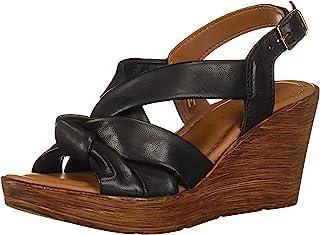 c665ccb17697 Bella Vita Womens Wes-Italy Slingback Sandal Wedge Sandal