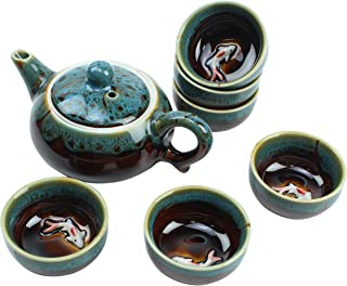 koi fish tea set