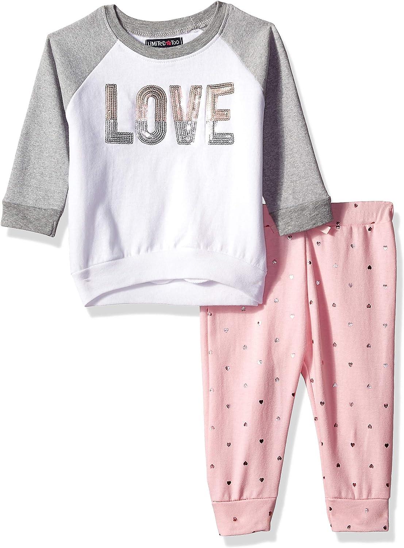 Limited Too Baby Girls 2 Piece Fleece Jog Set Pants