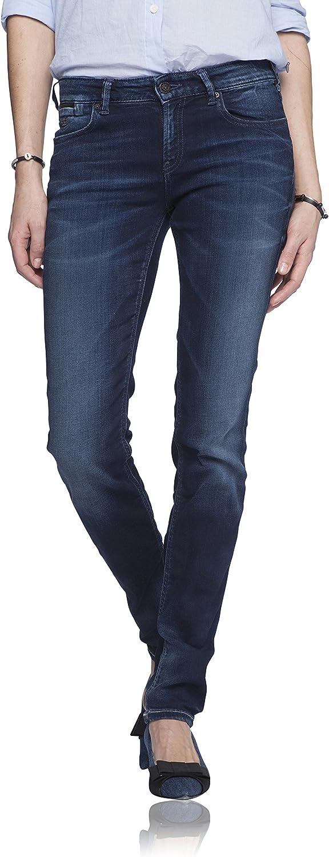 Maison Scotch Women's Straight Leg CinqP Jeans, Dark Indigo, 27 W x 32 L