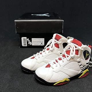 Pair Air Jordan VII 7 Retro Premio BIN 23 OG Sneakers Shoes 3D Keychain 1:6 Figure + Shoe Box