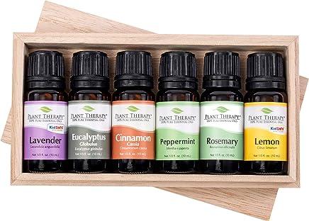 Plant Therapy Essential Oil Gift Set #4   Lavender, Peppermint, Eucalyptus, Lemon, Rosemary, Cinnamon   10 mL (1/3 oz)