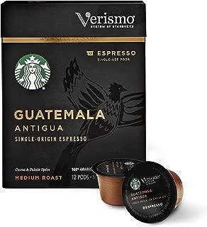 Starbucks Verismo Guatemala Antigua Espresso Single-Serve Verismo Pods, 6 Boxes of 12 (72 total Verismo pods)