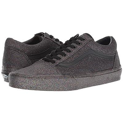 Vans Old Skooltm ((Rainbow Glitter) Black/Black) Skate Shoes