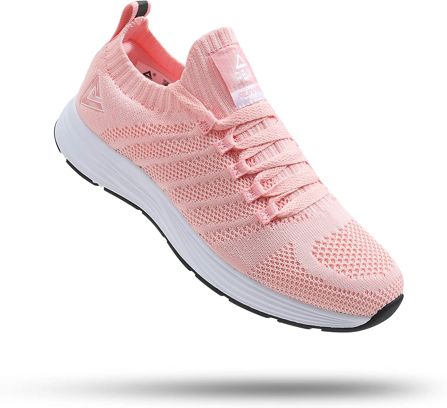 PEAK Womens Lightweight Walking Shoes - Comfortable Slip-on Sneakers for Running, Tennis, Gym, Casual Workout
