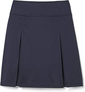 French Toast Little Girls Pull-On Kick Pleat Scooter, Navy, Small/6/6x