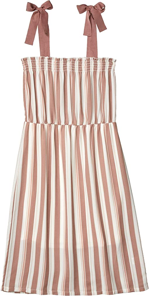 Varigated Linen Stripe Mauve
