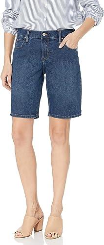 Womens Denim Shorts Slightly Curvey Ex Branded New Blue Ladies Knee Length Short