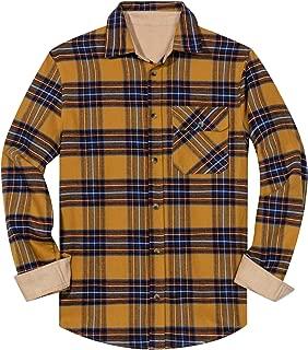 ZIOLOMA Men's Western Plaid Flannel Shirt Causal Long Sleeve Button Up Flannel Shirt