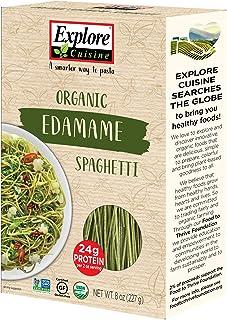 Explore Cuisine Organic Edamame Spaghetti - 8 oz - High in Plant Based Protein, Gluten Free Pasta, Easy to Make - USDA Certified Organic, Vegan, Kosher, Non GMO - 4 Servings