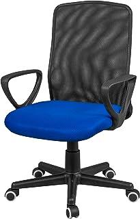 comprar comparacion duehome - Silla Ergonomica de Oficina, Silla de Despacho, Escritorio, Acabado en Tejido Transpirable, Color Negro y Azul, ...