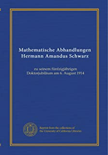 Best hermann amandus schwarz Reviews