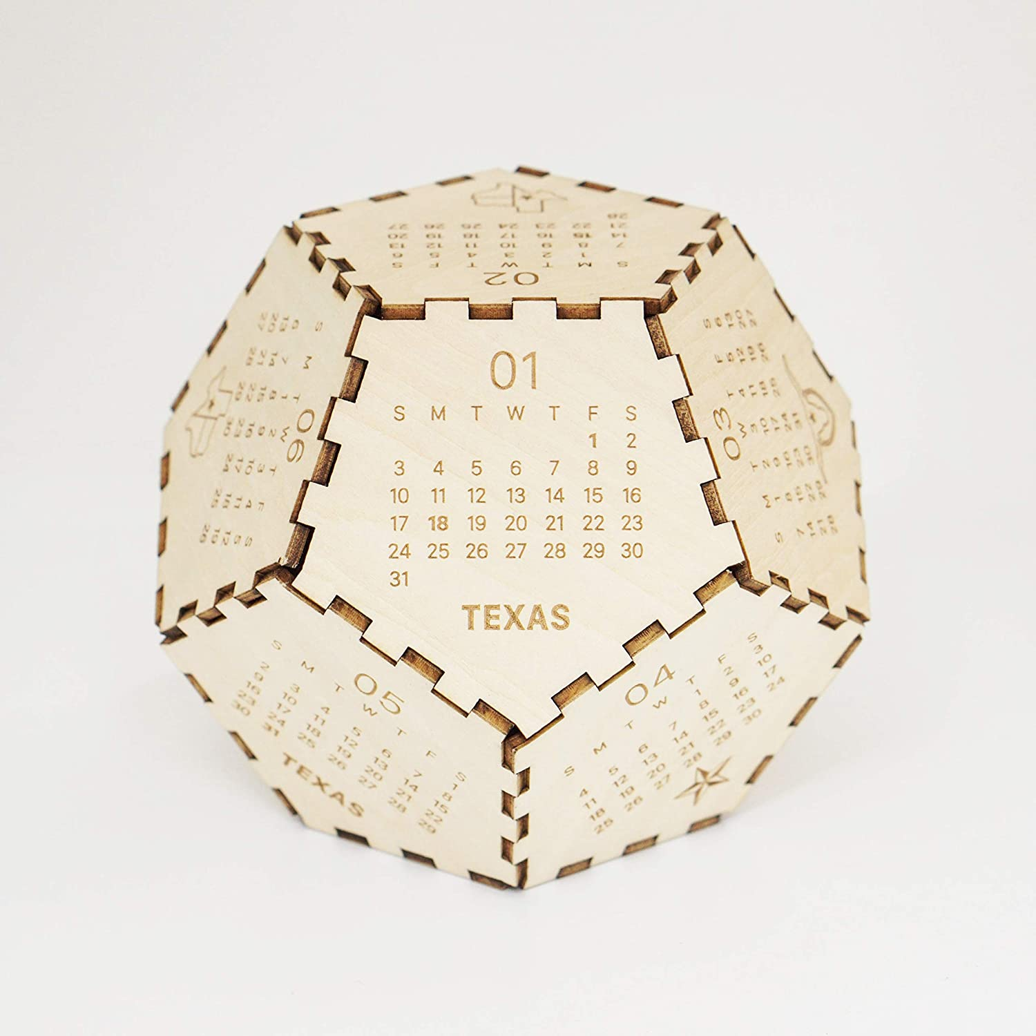2021 Texas Puzzle Free shipping anywhere New item in the nation Calendar Wooden N For Year New