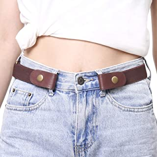 Buckle Free Elastic Women Belts for Jeans - Comfortable...