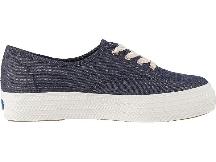 Keds Womens Triple CVO Lurex Denim Sneaker
