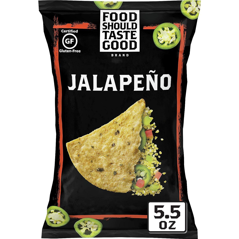 Food Should Taste Good, Gluten Free Jalapeno Tortilla Chips, 5.5 oz