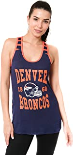Ultra Game NFL Women's Super-Soft Mesh Jersey Racerback Tank Top