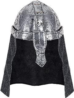 Knight Helmet - Crusader Costume - Soldier Hat - Medieval Costumes - Warrior Helmet Silver