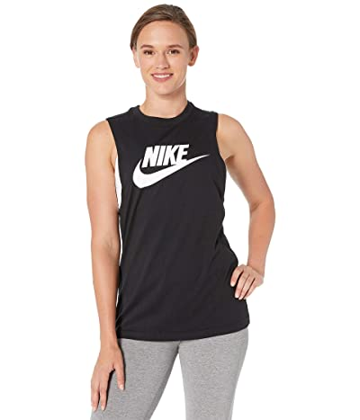 Nike Sportswear Tank Essential Muscle Futura (Black/White) Women