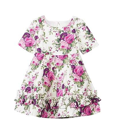 Janie and Jack Floral Dress (Toddler/Little Kids/Big Kids) (Multi) Girl