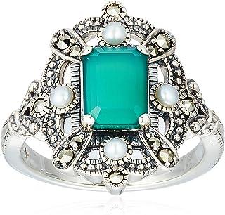 [ROKUZAN] ROKUZAN 银 绿玛瑙 戒指