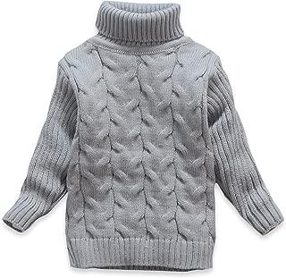 Kids Bear Turtleneck Sweater Boys Girls Knit Sweater Christmas
