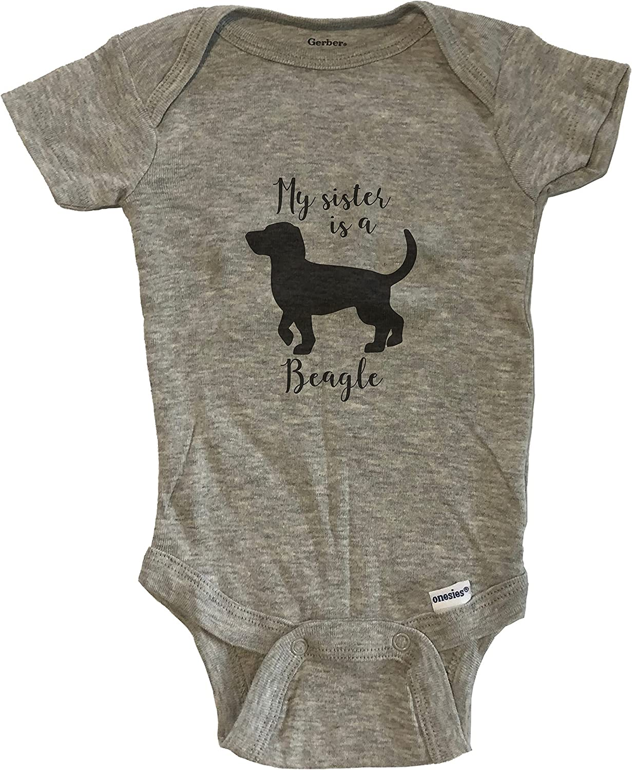 My Sister is Charlotte Mall A Beagle Cute Dog Baby One - Onesie Ba Max 78% OFF Piece