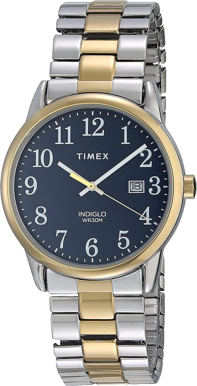 Timex Easy Reader Date Expansion Band 38mm Watch