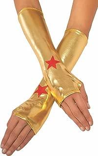 Rubie's Women's DC Superheroes Wonder Woman Gauntlets, Multi, One Size