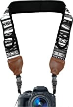 USA GEAR TrueSHOT Camera Strap with Grey Southwest Neoprene Pattern , Accessory Pockets and Quick Release Buckles - Compatible With Canon , Nikon , Sony and More DSLR , Mirrorless , Instant Cameras