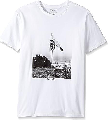 Quikargent T-shirt Smashed Mod pour homme, petit, blanc