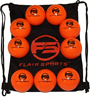 Flair Sports - 9 Pack Baseball/Softball Weighted Training Balls for Hitting/Pitching - Improve Power - Heavies - 1 LB Each - Bonus Carry Bag Included
