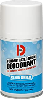 Big D 478 Concentrated Room Deodorant for Metered Aerosol Dispensers, Clean Breeze Fragrance, 7 oz (Pack of 12) - Air freshener ideal for restrooms, offices, schools, restaurants, hotels, stores