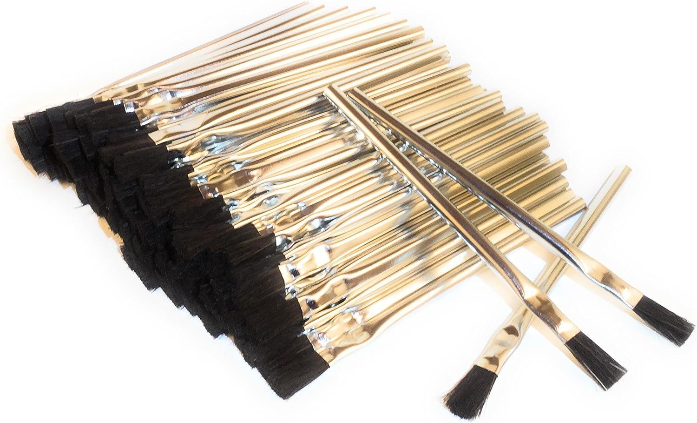 12pc 3//8 Acid Brushes Natural Horsehair Bristles Tin Handles /& Ferrules