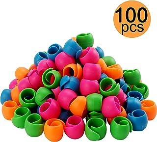 New brothread 100 Stück Garn spulen Halter Gewinde Spule Huggers - Halten Sie den Faden vom Abwickeln - Keine lose Fadenschwänze - zum Nähen von Spulen und Stickmaschinengewinden Spulen